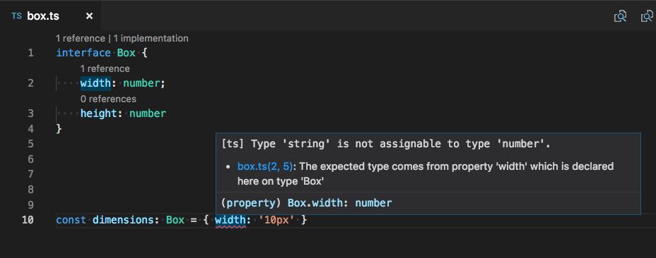 TypeScript 2.8如何报告此简单类型错误