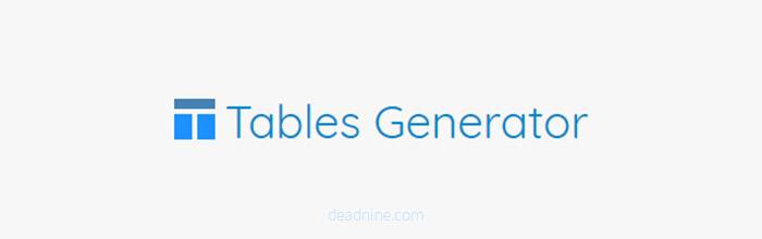 表格生成器:在线生成各种格式的表格 支持LaTeX/HTML/文字表格